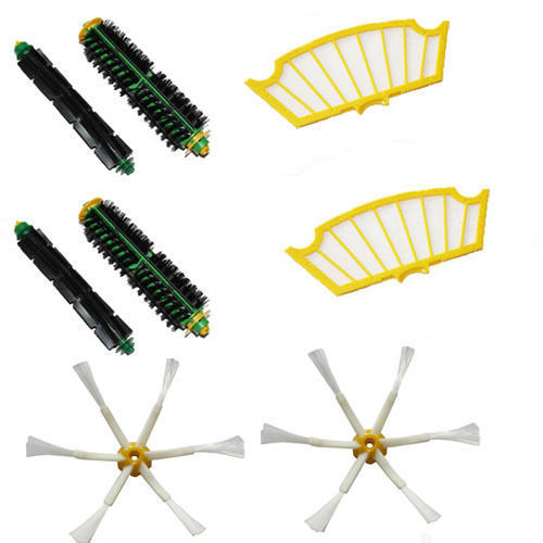 Free Post new 6 armed Brush & Filter kit for iRobot Roomba 500 Series 510 520 530 550 540 580(China (Mainland))