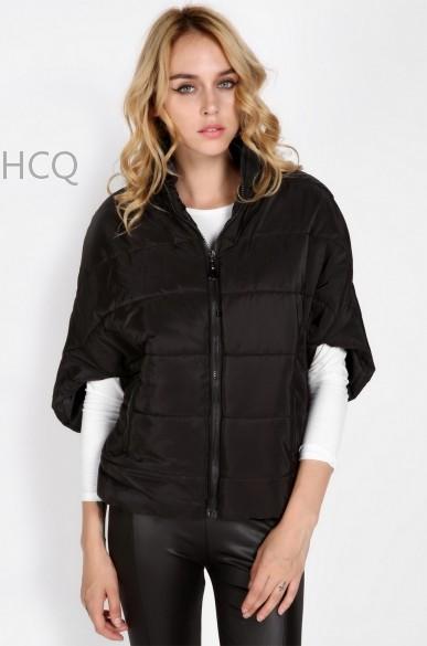 2015 Best Women's Fashion Bat Sleeve Warm Zip Up winter coat women parka Outerwear winter jacket women overcoat SV10 24(China (Mainland))