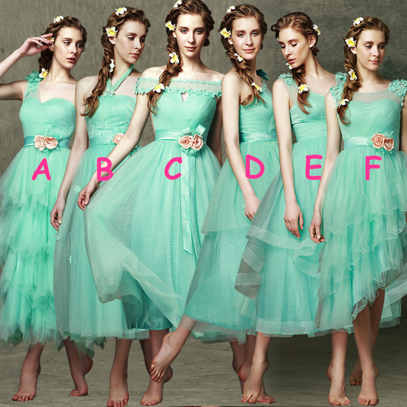 2016 Mint Green Bridesmaid Dress Short Spring and Summer ...