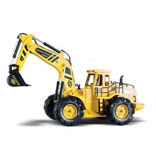 Detachable Electric Digger Big Remote control Big Size 1:10 RC Truck free shipping Rc Excavator Toy(China (Mainland))