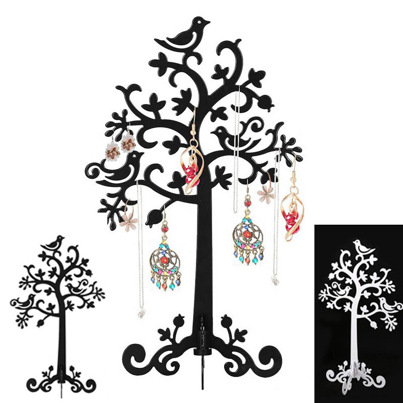 Birds Tree Jewelry Stand Display Earring Necklace Ring Holder Organizer Rack Tower BS88(China (Mainland))