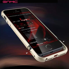 Luxury Original Brand Ginmic Aluminum Metal Bumper For Apple iphone 5S 5G 5 SE Case Column Shape Frame With Metal Button(China (Mainland))