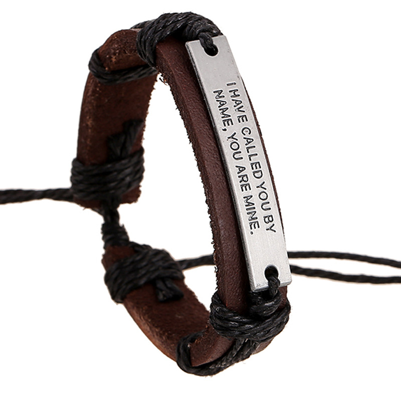lembrancinha de casamento Alloy letter leather bracelet to spread 1 dollar store supply sources fashion accessories(China (Mainland))