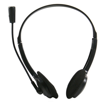 1PCS New Black 3.5mm Stereo Computer Headset Headphone With Microphone For PC Computer Skype D0021