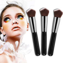 Professional 3D Face Foundation Powder Brush Triangle Kabuki Blush Blending Brushes For Cosmetic Makeup Tool