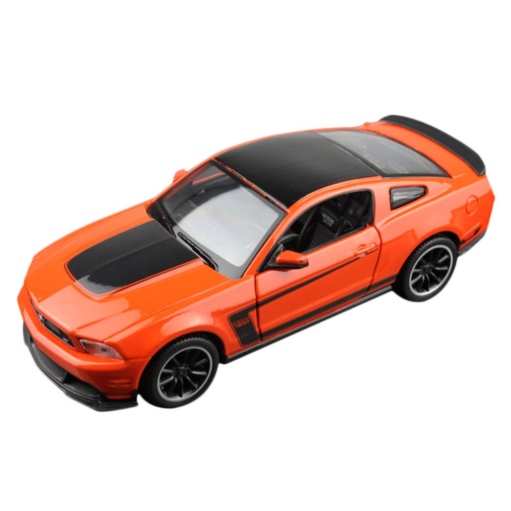 MAISTO 31269 1/23-25 Scale MUSTANG BOSS 302 Orange Diecast Vehicles Model Toy Car Alloy Hobby Car C9T(China (Mainland))