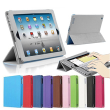 For ipad Air 2 II Folio Book Style PU Leather Stand Cover With Auto Sleep /Wake Up Function For ipad 6 /Air2 Magnetic Flip Case(China (Mainland))