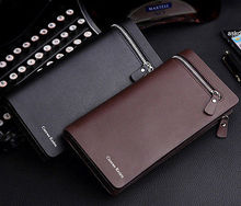 New Men Leather Card Cash Receipt Holder Organizer Bifold Wallet Purse Excellent(China (Mainland))