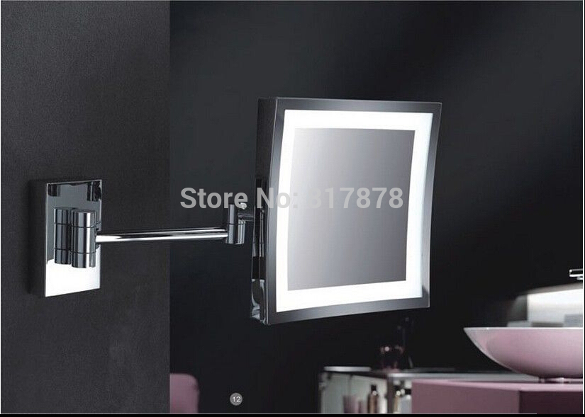 Bathroom Wall Mount 8 Square Cosmetic Shaving Led Illuminated Makeup Mirror Se467 In Makeup