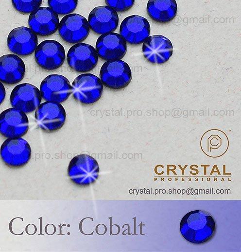 144 pcs ss10 Cobalt Blue 3mm wholesale 10ss glass Crystal hot fix iron on Loose beads stone Round FLATBACK hotfix rhinestone
