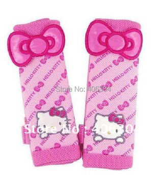 Free shipping,hello kitty car accessories,seat belt cover,car interior decoration,2pcs in a set ,two colors