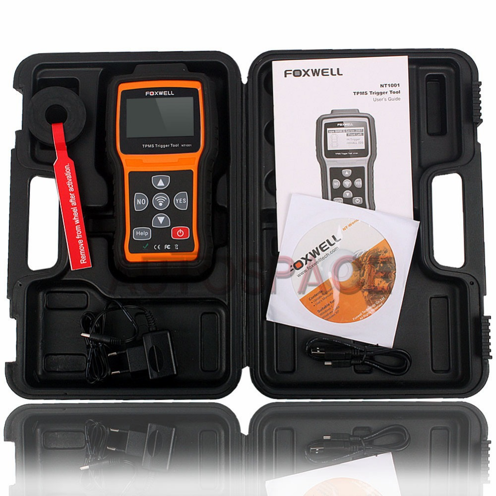New Foxwell NT1001 TPMS Trigger Tool Auto NT1001 TPM Sensor Decoder Code Scanner Multi-language with Best Quality(China (Mainland))
