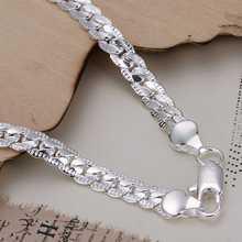 Hot Sale Free Shipping 925 Silver Bracelets Bangles Fashion Sterling Silver Jewelry 5M sideways Bracelet SMTH199