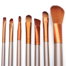 7Pcs Pro Makeup Gold Brush Pen Set Foundation Concealer Blending Blush Comestic Brush Kit Beauty Tool