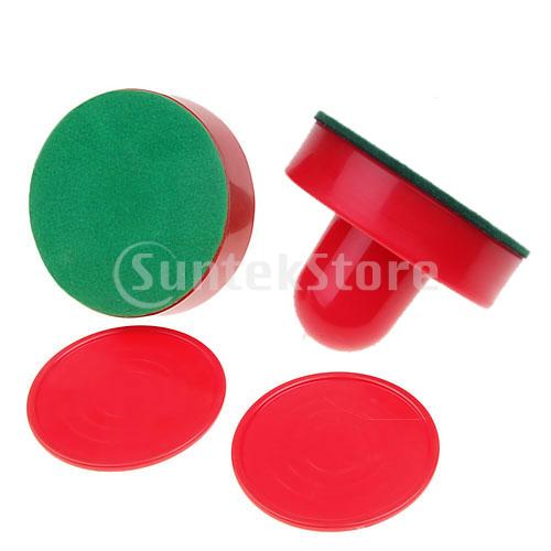 New 2014 2 Air Hockey Pushers+2 Pucks Table Hockey Handles(China (Mainland))