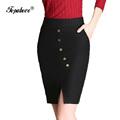 2016 NEW Plus Size S 3XL Women Office Skirts Fashion High Waist Women Bodycon Pencil Skirt