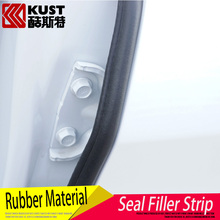 KUST 2PCS Rubber Material Door Seal Filler Strip For Tucson 2016 Car Door Protection Sealant Strip For Hyundai For Tucson 2015(China (Mainland))