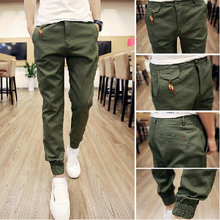 Free Shipping Spring Hip Hop  Men Full Length mens joggers pants Skinny Harem men pants Soft Men Pants Casual Sportwear  M-XXL(China (Mainland))