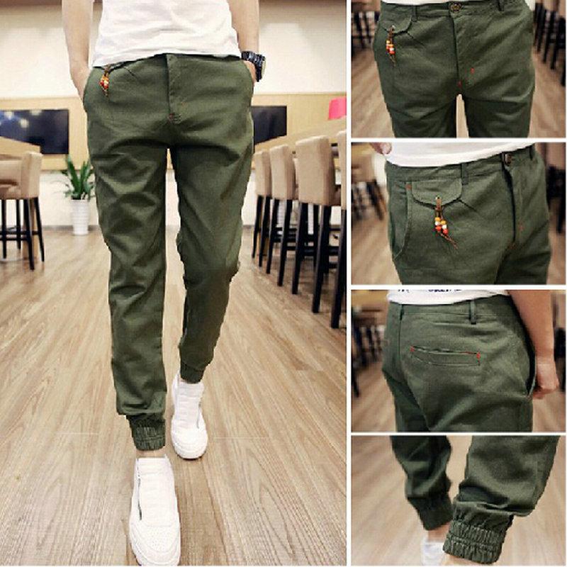 Free Shipping Spring Hip Hop  Men Full Length mens joggers pants Skinny Harem men pants Soft Men Pants Casual Sportwear  M-XXL(China (Mainland))