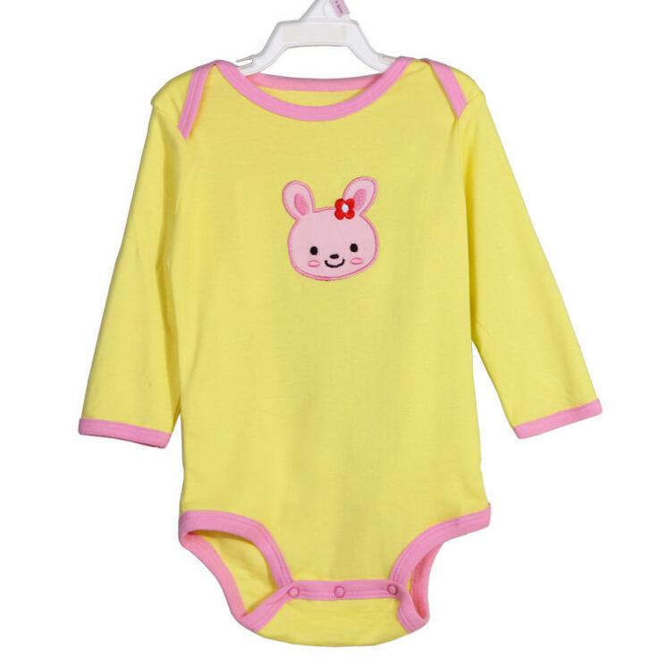 100 cotton One Piece Baby Boy Baby font b Girl b font Long Sleeve onesie Bodysuit