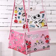 South Korea 16 years new Handbag Shoulder Bag Messenger Bag cute cartoon Leather Satchel Hand Bag Backpack =1pcs a lot(China (Mainland))