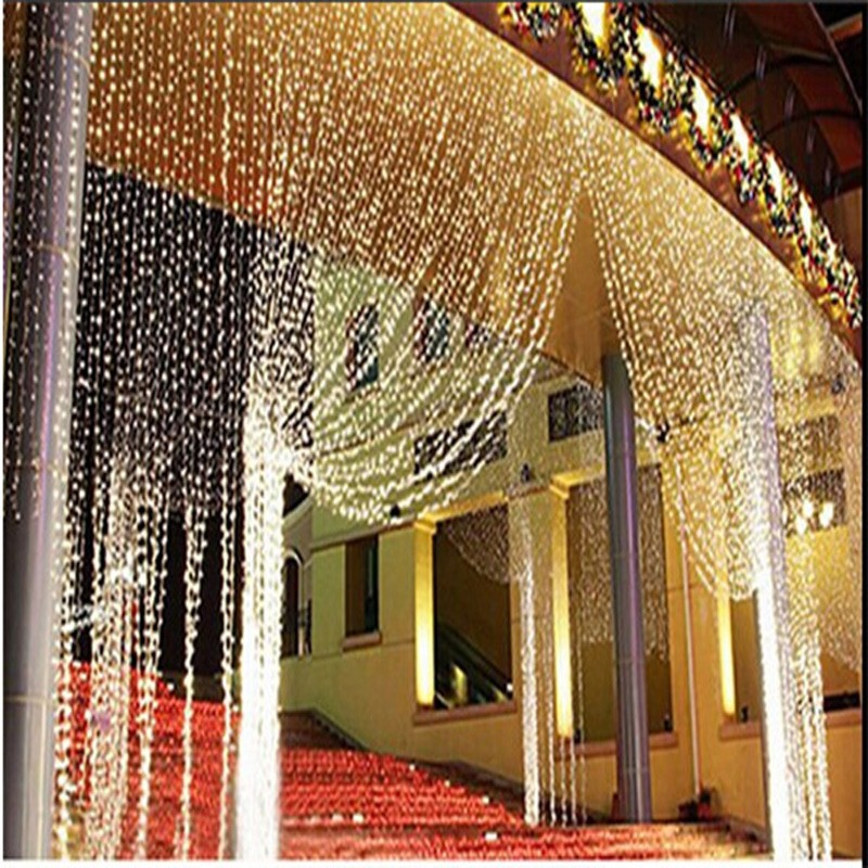 New 10V 8M x 3M 800 LED Icicle String Lights Christmas xmas Fairy Lights Outdoor Home Wedding/Party/Curtain/Garden Decoration(China (Mainland))