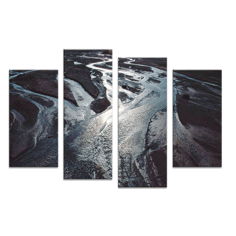 Hot Sells 4 Panels Aerial view of river Painting Canvas Wall Art Picture Home Decoration Living Room Print On Canvas modern art(China (Mainland))