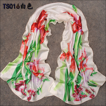 160*50cm 2015 New Fashion Spring And Summer Ultra Smooth Long Simulation Silk Fabric Scarves Air Conditioning Towel