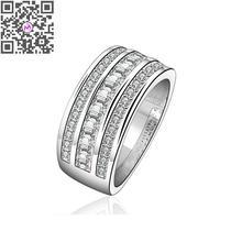 Wholesale Gorgeous Round Cut White Crusyal 925Silver Ring Size 7 8 Women's Fashion Party Gift Finger Rings anel feminino(China (Mainland))