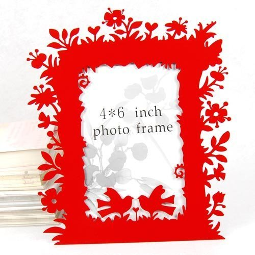 hollow Iron frame Flowers Magpie Wedding gift red Photo frame-in Frame ...
