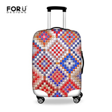 Original Design Travel Bag Cover Elastic  Plaid Travel Luggage Protective Dust Cover for 18-30inch Case Dustproof Suitcase Cover(China (Mainland))