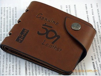 Free shipping2012 new stylish Mens genuine cow Leather Wallet Pockets rfid Card Clutch Cente Bifold Purse , wholesaleW-B6