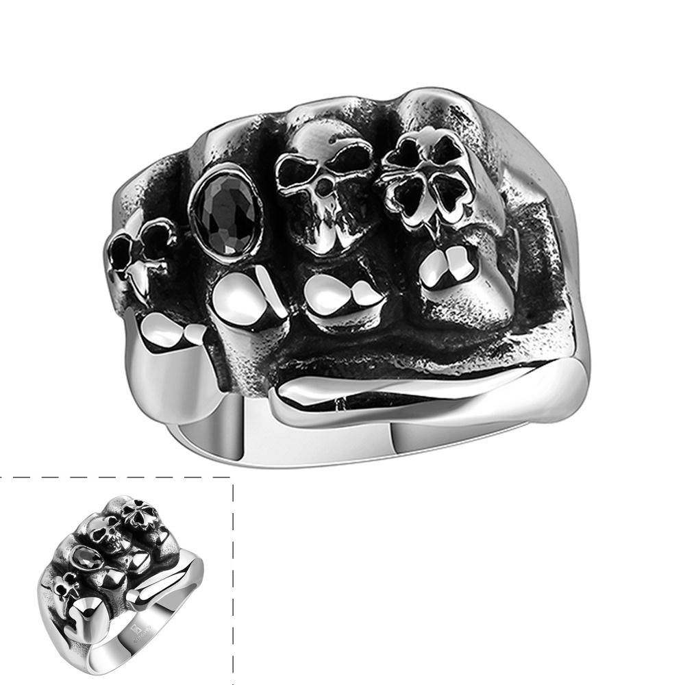 Fine Jewelry Creative Design Hand Shape Ring For Christmas Gift Factory Price Stainless Steel Punk Style Ring(China (Mainland))