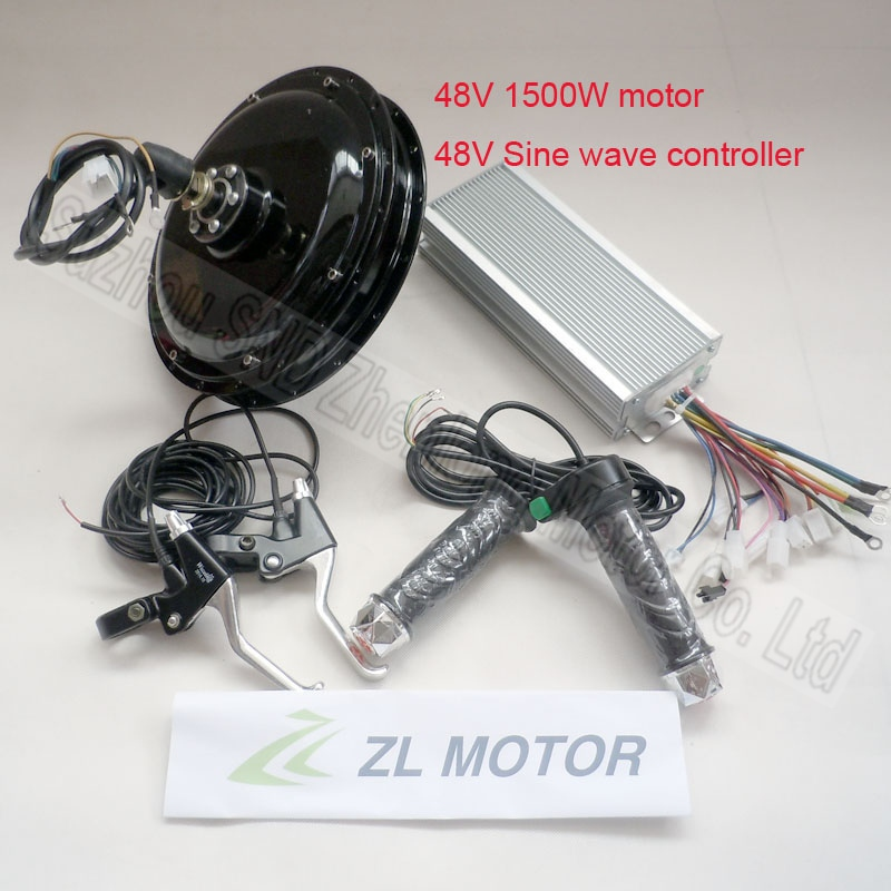 Electric bicycle motor conversion kit suit 48v 1500w/ebike modify units include controller/throttle and brake lever G-S034(China (Mainland))