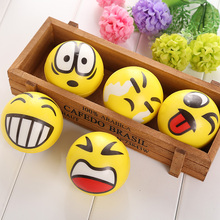 Kids Toys Smiley Ball Smiley Stress Ball Smiley Squeeze Ball Anti Stress Reliever Autism Squeeze Toys for Children Random Hand(China (Mainland))