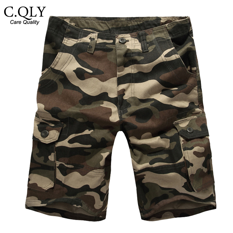 2016 New Camouflage Shorts Men Military Army Camo Mens Cargo Shorts Loose Cotton Multi Pockets Overalls Casual Short Plus size(China (Mainland))