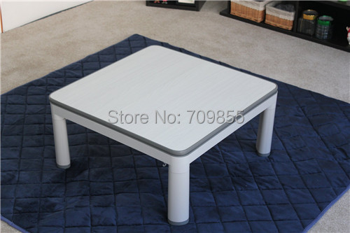 Free shipping KT75-5  reversible table top white/yellow  foldable extendable legs heated kotatsu table, 75*75cm<br><br>Aliexpress