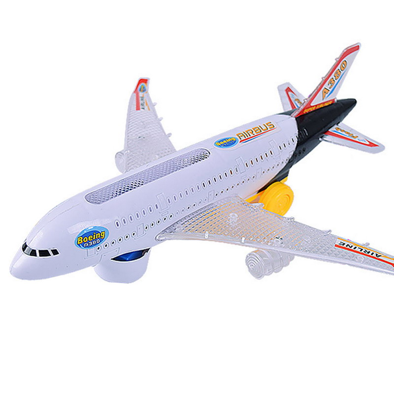 Electrical Airplane Toys Shifting Flashing Lights Sounds DIY Meeting Plane Airplane Toy for Youngsters Youngsters Reward