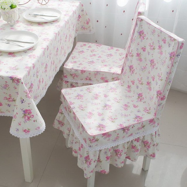 One piece chair cover fashion thickening rustic table cloth bow customize