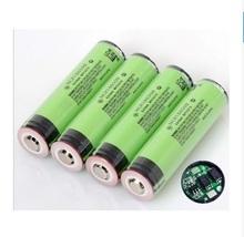 6 pcs/ Lot New secure Original NCR18650B 3400 mAh 18650 battery with PCB 3.7v for Panasonic  Free shipping