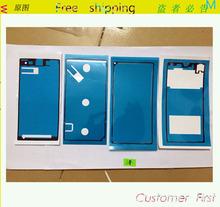 Клейкий стикер клей для Sony Xperia Z1 L39H, 4 шт / комплект перед и средний рама и задняя часть аккумулятор стекло клей