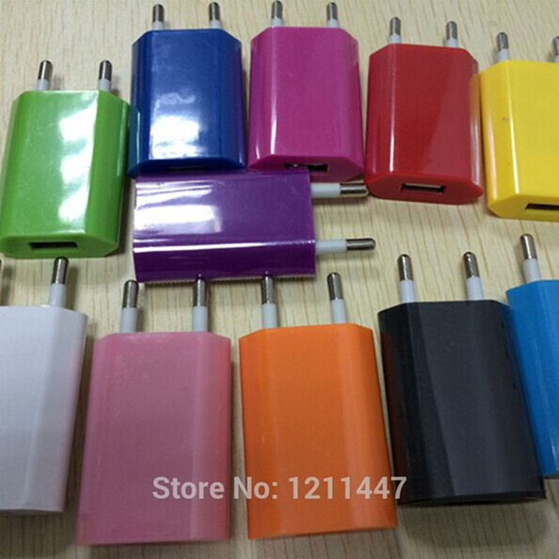 5V 1A EU plug Travel Home USB Wall Charger for iPhone 4 5 5S Samsung Galaxy S2 S3 S4 note2 Cell Phones Adapter