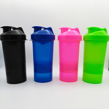 Buy 1PC Protein shaker blender mixer cup sports fitness gym 3 layers multifunction 500ml BPA free plastic water bottle for $21.81 in AliExpress store