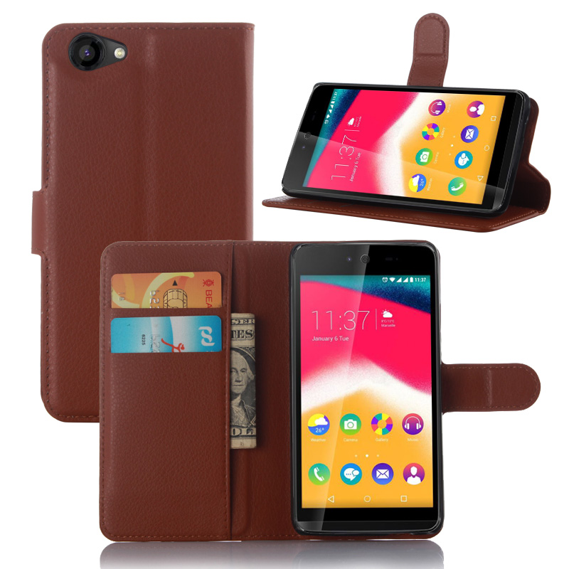 For Wiko Rainbow Jam Cover Luxury Wallet Stand Flip Leather Boitier De Telephone Mobile Case For Wiko Jam With Card Slot Holder(China (Mainland))