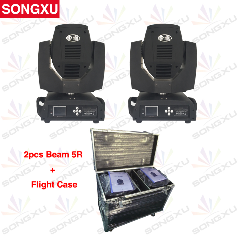 SONGXU 2pcs Touch Screen Sharpy Beam 5R Beam 200w Moving Head Light with Flight Case Package/SX-MH200(China (Mainland))