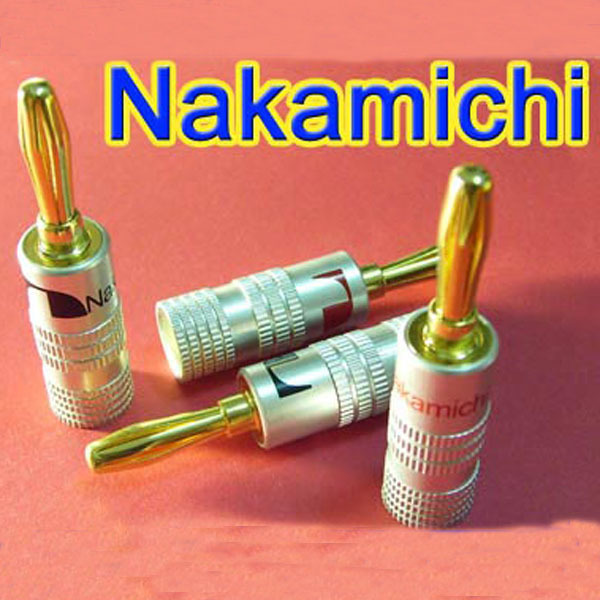 Гаджет  8pcs/lot! Black Red High Quality 4mm Nakamichi Banana Plug For Video 24K Gold Plated Speaker Copper Adapter Audio Connector FLM None Электротехническое оборудование и материалы