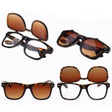 Flip Up Women Glasses Steampunk Double high quality brand design Hot Sale 2015 New Vintage Retro