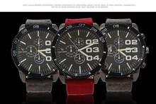 2015 nueva moda de pulsera de cuarzo correa para movimiento de importación gran Dial Men Sports relojes hombres reloj militar del Relogio Masculino