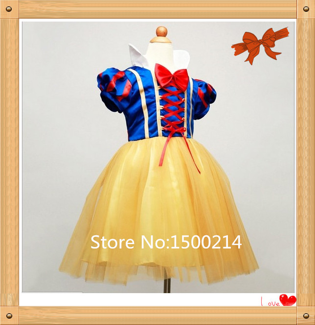 Vestidos 2016 Wholesale New Fashion Family Party Prom Formal Dress GirlS,Colorful Princess Dress,Snow White Dress Kids Clothes(China (Mainland))