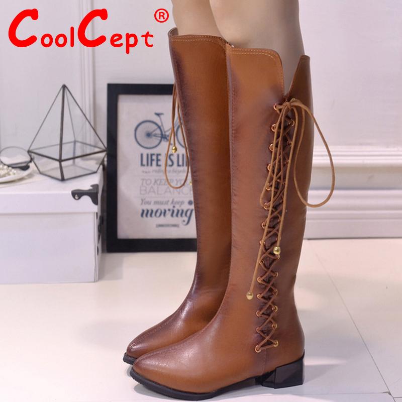 Women Cross Strap Falt Riding Over Knee Boots Fashion Snow Long Boot Warm Winter Brand Zipper Female Footwear Shoes Size 35-39<br><br>Aliexpress